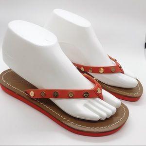 Tory Burch Flip Flop Thong Sandals Medallion Logo